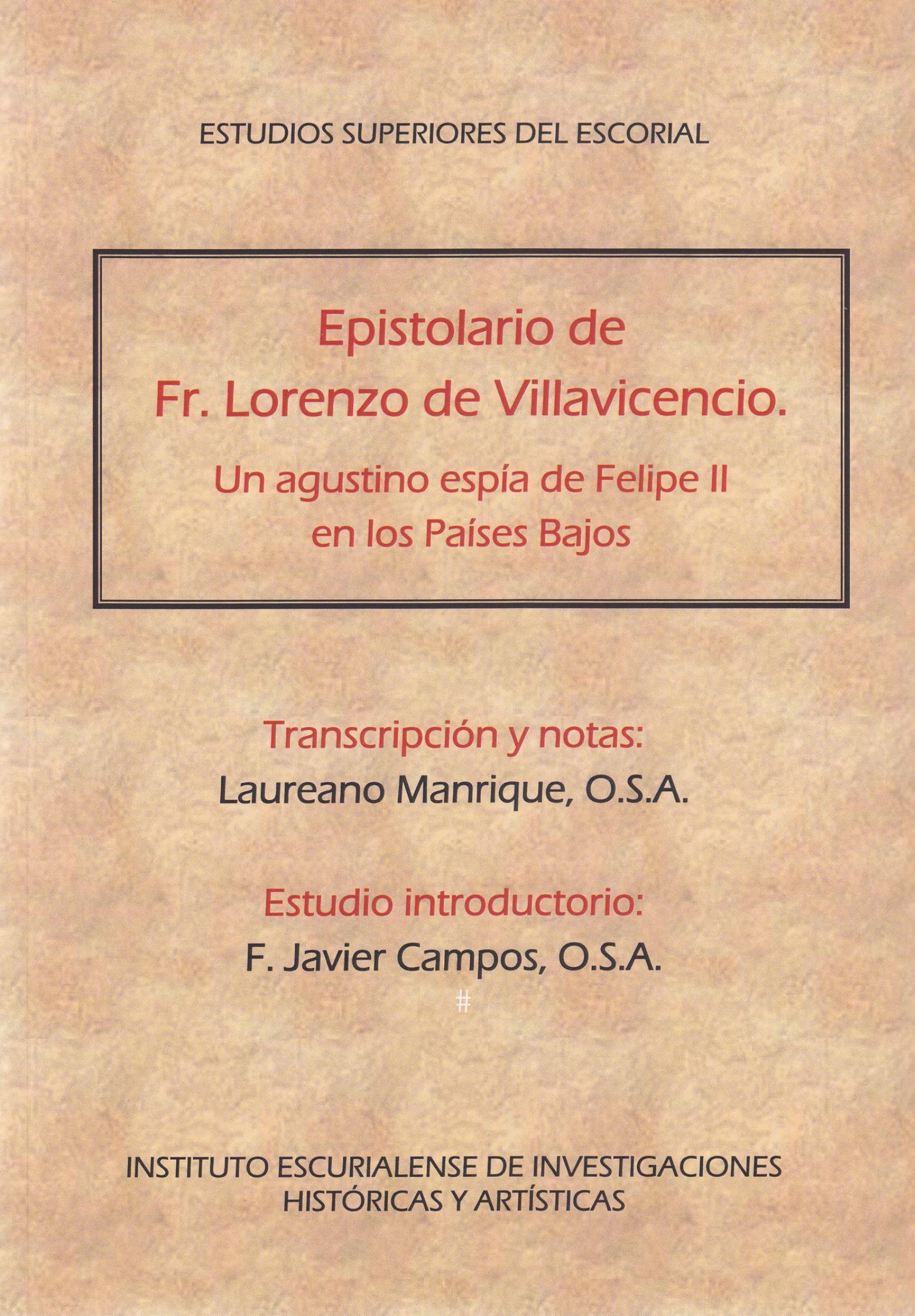 Portada Epistolario Fr Lorenzo De Villavicencio