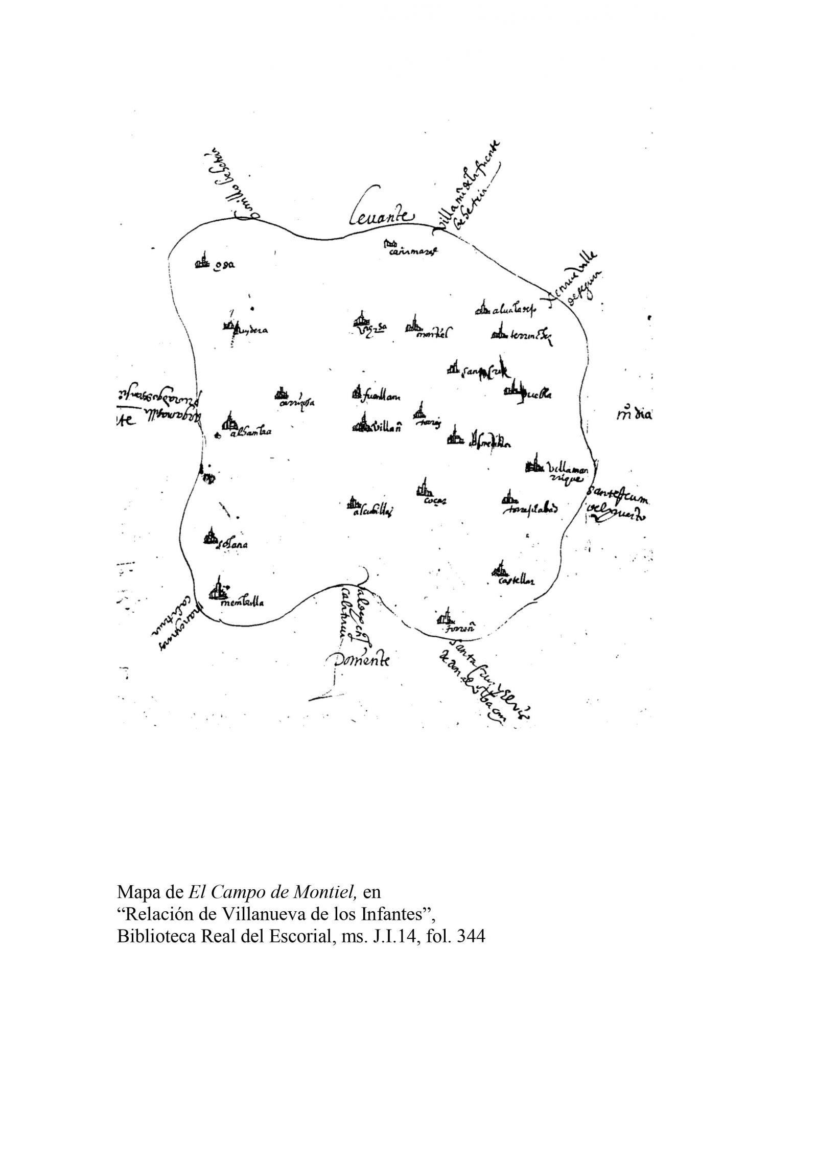 Villanueva  Mapa Campo De Montiel (J I 14_ F. 344)
