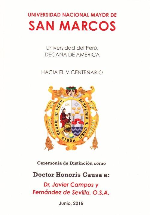 Ceremonia Doctorado HC. Portada