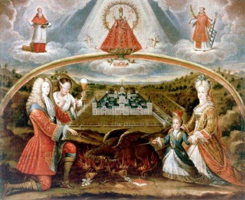 Escorial Virgen Patrocinio Y Felipe V