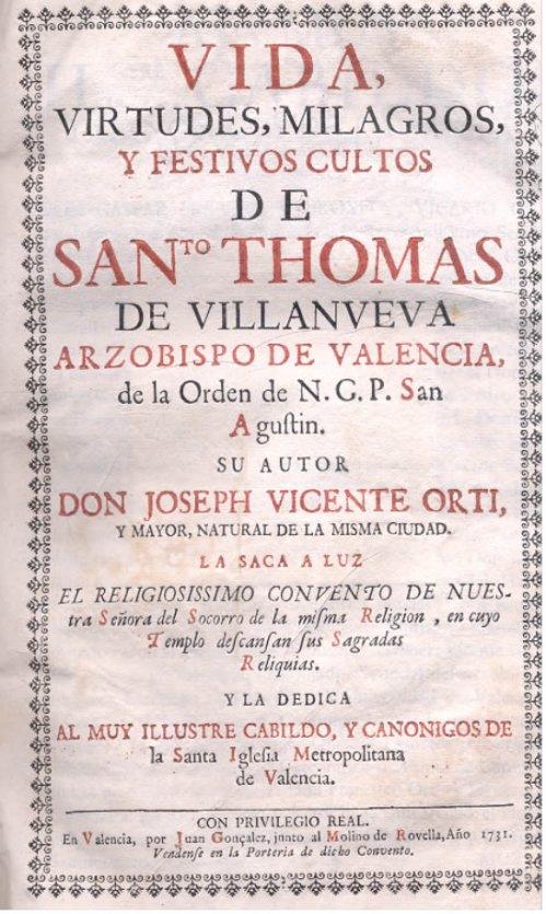 Sto Tomas De Villanueva Vida Virtudes Y Milagros